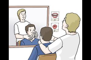 Sprach-Therapie (Quelle: Lebenshilfe für Menschen mit geistiger Behinderung Bremen e.V., Illustrator Stefan Albers, Atelier Fleetinsel, 2013)